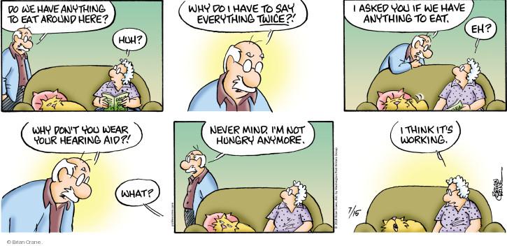 Comic Strip Brian Crane  Pickles 2018-07-15 don't mind