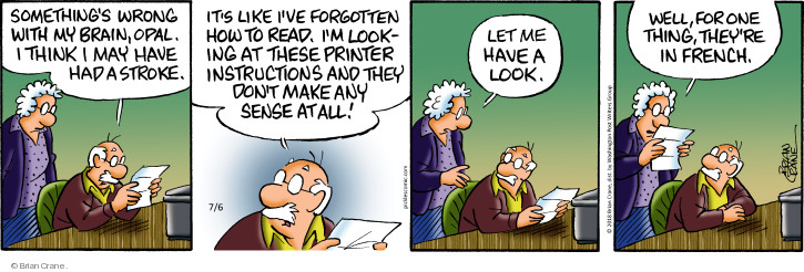 Comic Strip Brian Crane  Pickles 2018-07-06 ability
