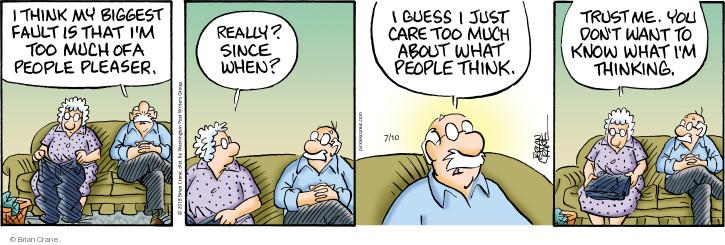 Comic Strip Brian Crane  Pickles 2018-07-10 personality