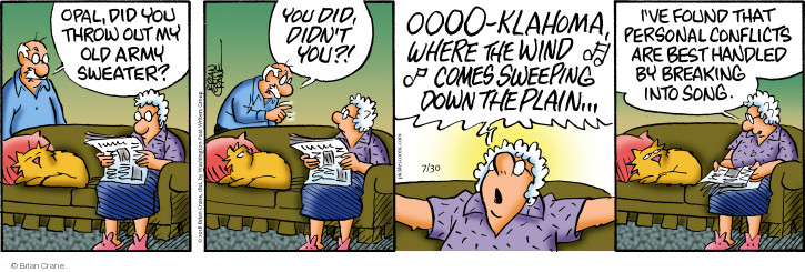 Comic Strip Brian Crane  Pickles 2018-07-30 conflict