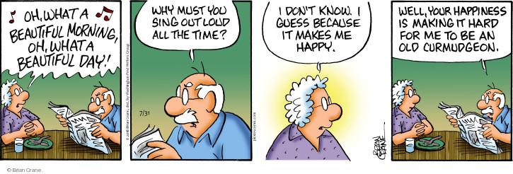 Comic Strip Brian Crane  Pickles 2018-07-31 morning