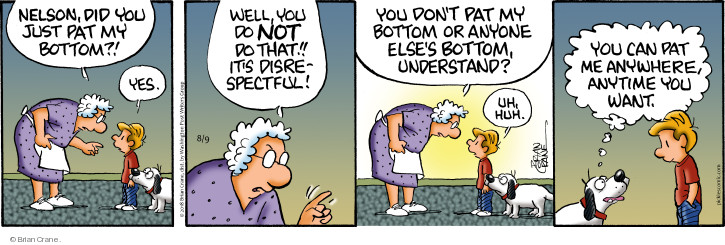 Comic Strip Brian Crane  Pickles 2018-08-09 disrespect