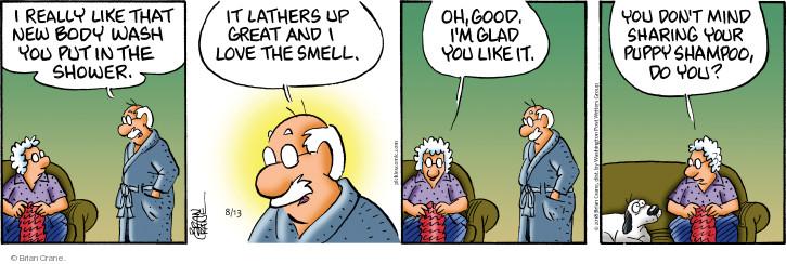 Comic Strip Brian Crane  Pickles 2018-08-13 don't mind
