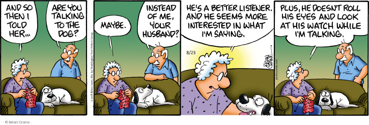 Comic Strip Brian Crane  Pickles 2018-08-23 husband