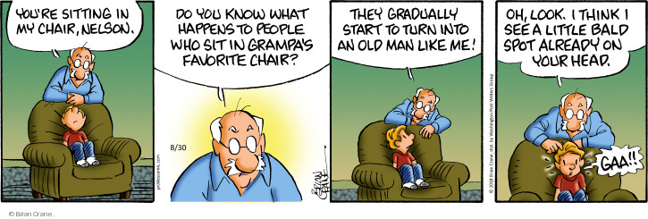 Comic Strip Brian Crane  Pickles 2018-08-30 grandpa