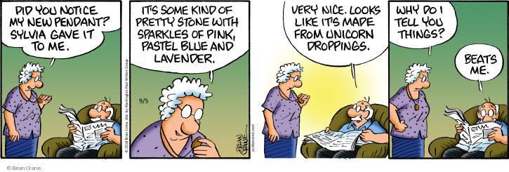 Comic Strip Brian Crane  Pickles 2018-09-05 unicorn