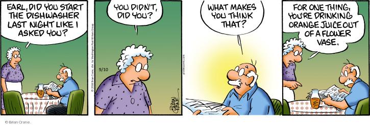 Comic Strip Brian Crane  Pickles 2018-09-10 dirty