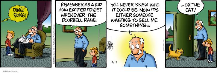Comic Strip Brian Crane  Pickles 2018-09-19 cat