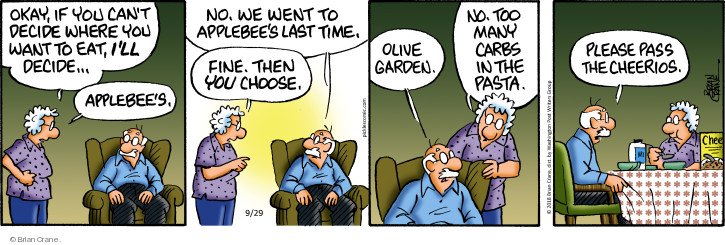 Comic Strip Brian Crane  Pickles 2018-09-29 cereal