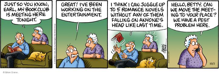 Cartoonist Brian Crane  Pickles 2018-10-02 book