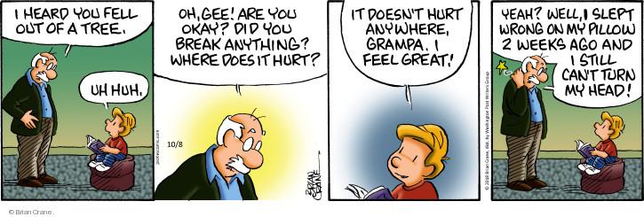 Comic Strip Brian Crane  Pickles 2018-10-08 hear
