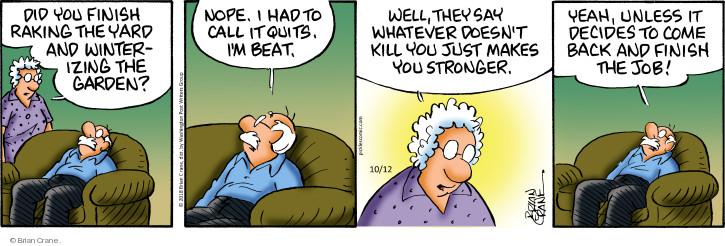 Comic Strip Brian Crane  Pickles 2018-10-12 seasonal