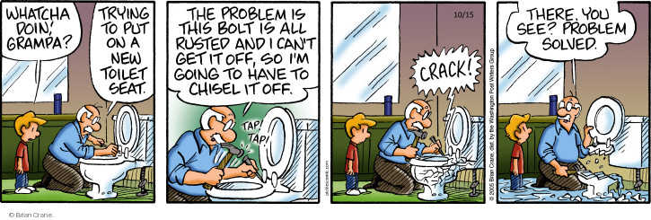 Comic Strip Brian Crane  Pickles 2018-10-15 plumbing