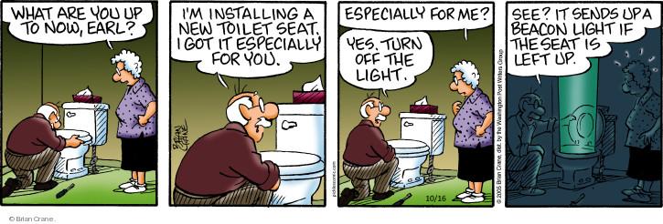 Cartoonist Brian Crane  Pickles 2018-10-16 turn it off