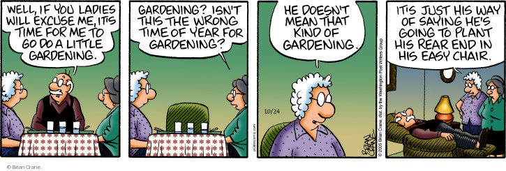 Comic Strip Brian Crane  Pickles 2018-10-24 gardening