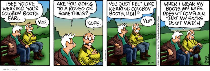 Comic Strip Brian Crane  Pickles 2018-10-25 cowboy