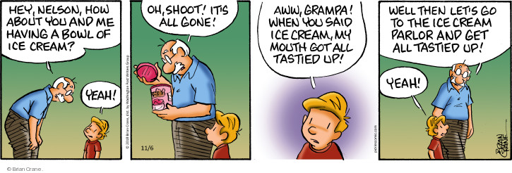 Comic Strip Brian Crane  Pickles 2018-11-06 hey