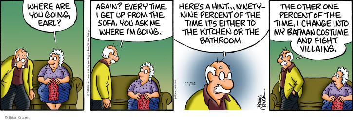 Comic Strip Brian Crane  Pickles 2018-11-14 bathroom