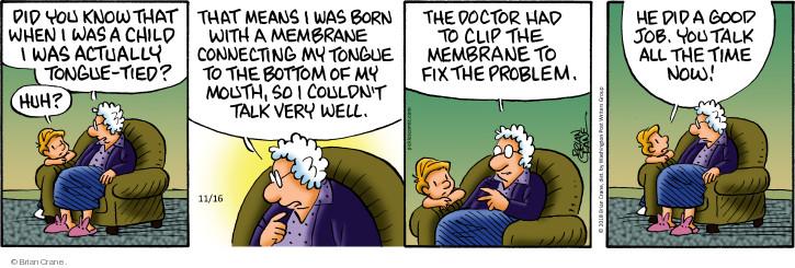 Comic Strip Brian Crane  Pickles 2018-11-16 doctor