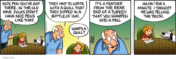 Comic Strip Brian Crane  Pickles 2018-11-17 writing