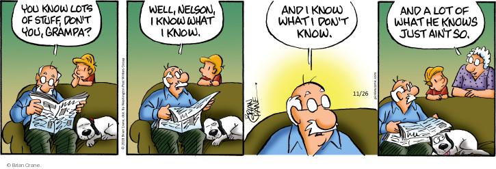 Comic Strip Brian Crane  Pickles 2018-11-26 Nelson