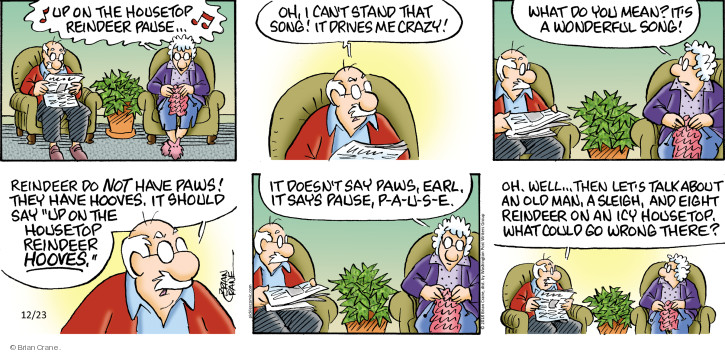 Comic Strip Brian Crane  Pickles 2018-12-23 Christmas