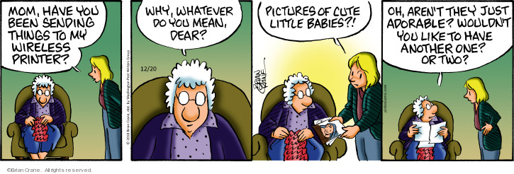 Comic Strip Brian Crane  Pickles 2018-12-20 mother