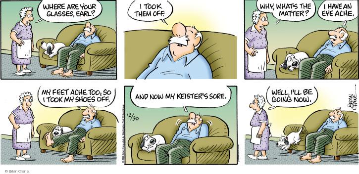 Comic Strip Brian Crane  Pickles 2018-12-30 ache