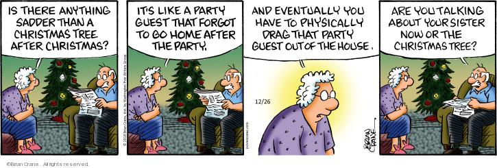 Comic Strip Brian Crane  Pickles 2018-12-26 Christmas