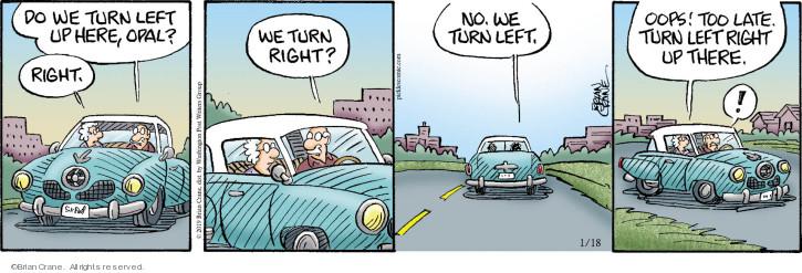 Cartoonist Brian Crane  Pickles 2019-01-18 turn