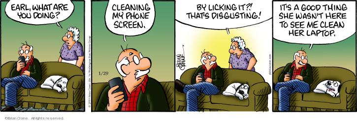 Comic Strip Brian Crane  Pickles 2019-01-29 Earl
