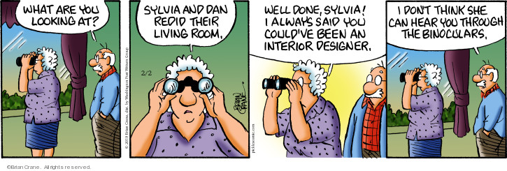 Comic Strip Brian Crane  Pickles 2019-02-02 room