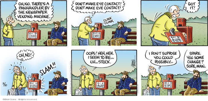 Comic Strip Brian Crane  Pickles 2019-02-10 contact