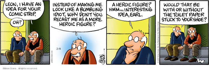 Comic Strip Brian Crane  Pickles 2019-02-08 stuck