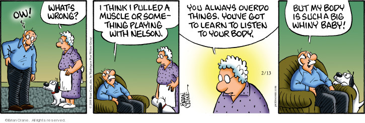 Comic Strip Brian Crane  Pickles 2019-02-13 Nelson