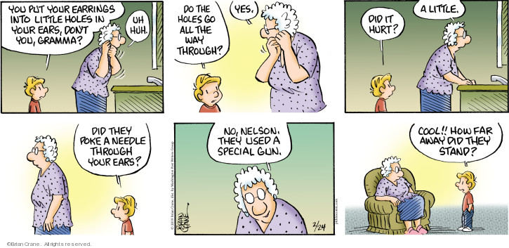 Comic Strip Brian Crane  Pickles 2019-02-24 gun