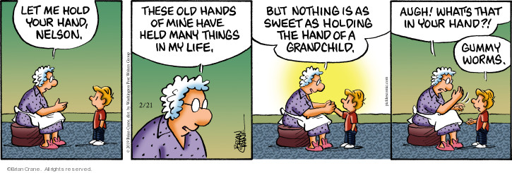 Comic Strip Brian Crane  Pickles 2019-02-21 grandchild