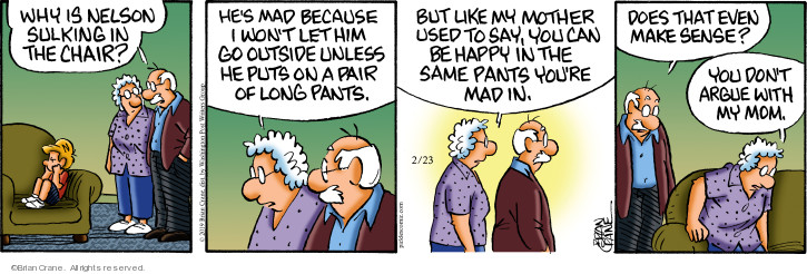 Comic Strip Brian Crane  Pickles 2019-02-23 mad
