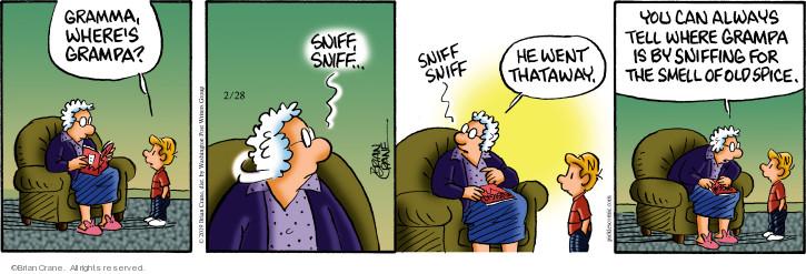 Comic Strip Brian Crane  Pickles 2019-02-28 smell