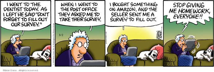 Cartoonist Brian Crane  Pickles 2019-03-02 homework
