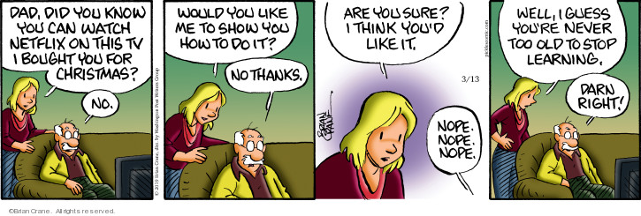 Comic Strip Brian Crane  Pickles 2019-03-13 Christmas