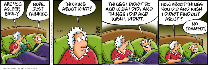 Comic Strip Brian Crane  Pickles 2019-03-14 thought
