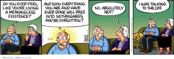 Comic Strip Brian Crane  Pickles 2019-03-15 cat