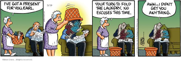 Cartoonist Brian Crane  Pickles 2019-03-19 time