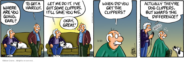 Comic Strip Brian Crane  Pickles 2019-03-20 grooming