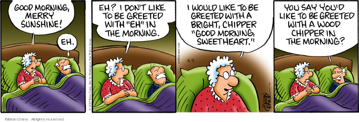 Comic Strip Brian Crane  Pickles 2019-04-05 morning