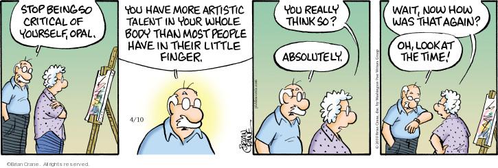 Comic Strip Brian Crane  Pickles 2019-04-10 ability