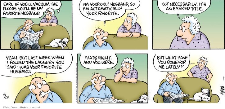Comic Strip Brian Crane  Pickles 2019-04-28 proof