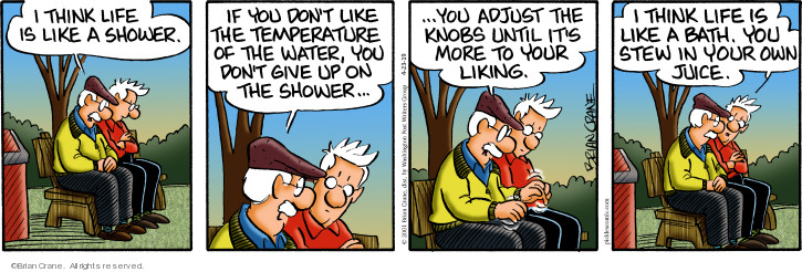Comic Strip Brian Crane  Pickles 2019-04-23 water temperature