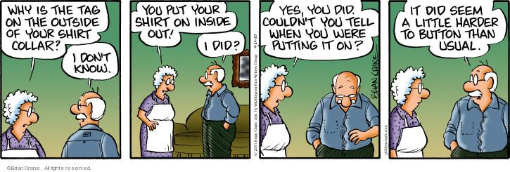 Comic Strip Brian Crane  Pickles 2019-04-24 don't